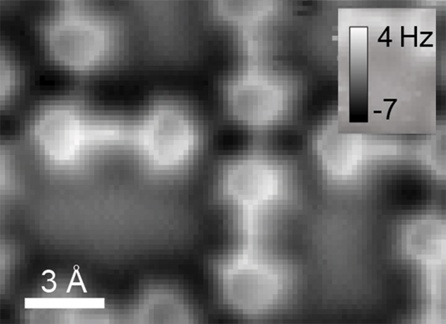 AFM image possibly showing hydrogen bonds